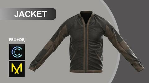 Man Jacket II. Marvelous Designer/Clo3d project + OBJ + FBX