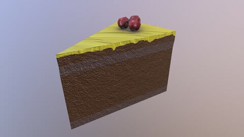 Low Poly Cake 3D Model