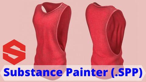 Substance Painter file (.SPP) : Men's gym tank top