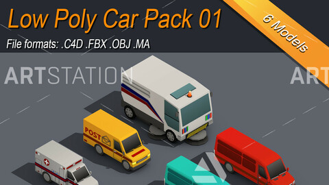 Low Poly Car Pack 01 Isometric Icon