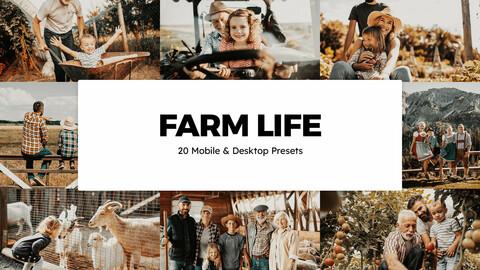 20 Farm Life LUTs and Lightroom Presets