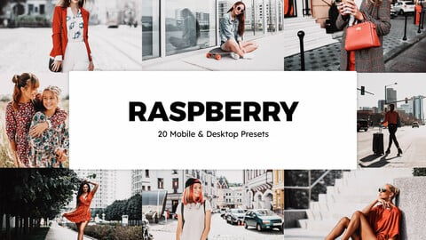 20 Raspberry LUTs and Lightroom Presets