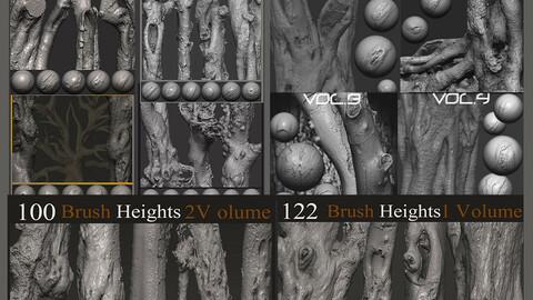 Z brush - Trunk Detail Brushes 10 Volumes