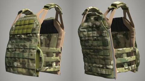 Military Bulletproof Plate Carrier Vest Crye Precision JPC 2.0 (Marvelous Designer / Clo 3D project)