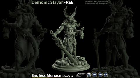 FREE Demonic Slayer   3D print ready