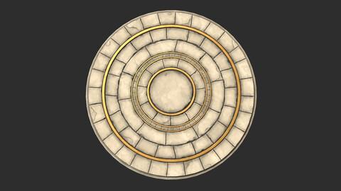Stylized Stone Floor Circle