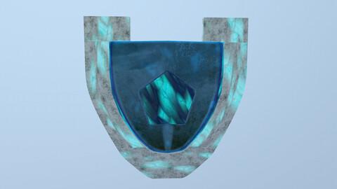 Crystal Shield 3D Model free
