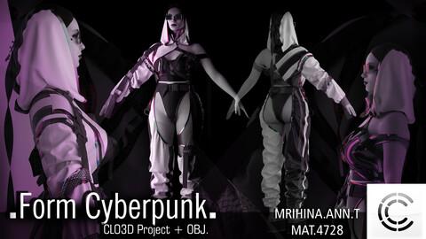 .Form Cyberpunk. Clo3d, Marvelous Designer.