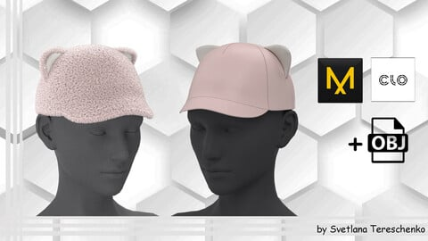 Female accessory. Cap with ears