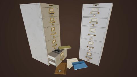 Realistic Vintage Filling Cabinet