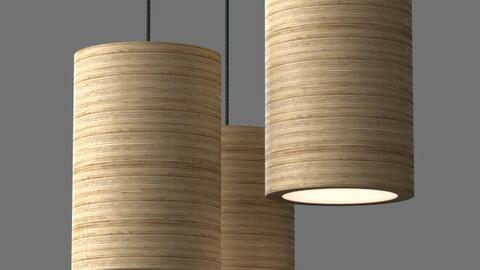 Cylinderical pendant light