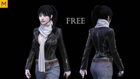 Womens clothing. Avatar genesis 8 Female. Marvelous Designer, Clo3d project + FBX files (FREE)