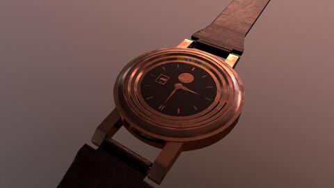 Copper Wrist Watch 3D Model