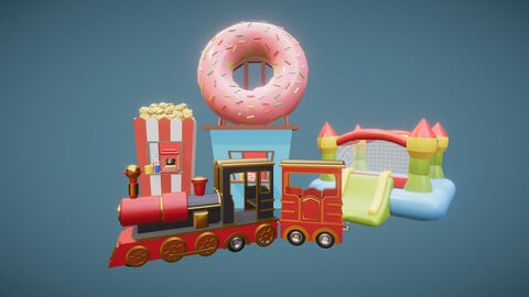 Low Poly Art Park Constructor Pack
