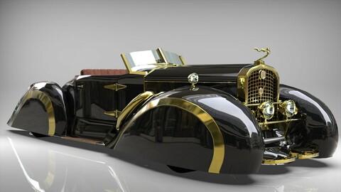 Cadillac V16 Speedster 1930 Concept lowpoly model