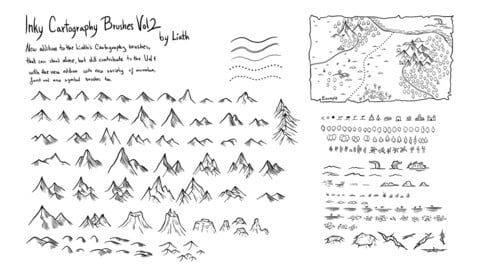Liath's Inky Cartography Brushes Vol 2