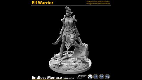 Elf Warrior   3D print ready