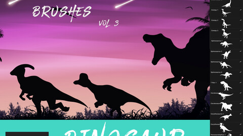 Free Dinosaur Brushes Vol 3