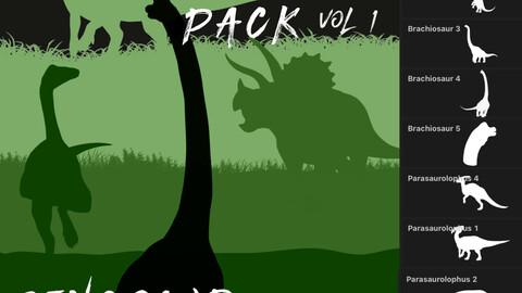 Herbivore Pack - 36 Dinosaur Brushes for Procreate Vol 1