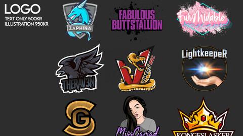 Custom logo design til content creators