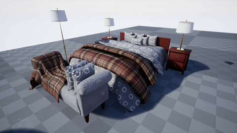 Luxury Bedroom UE4