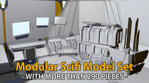 Modular Scifi Model Set