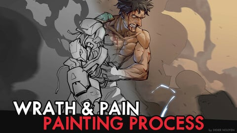 1h30MIN PAINTING PROCESS - WRATH & PAIN