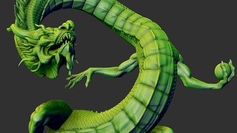 legendary Dragon STL for 3D printing