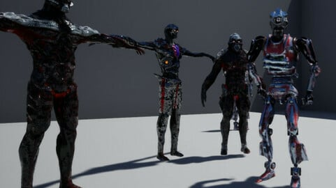 UE4 free Robot from cyborg Pack