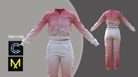 Female Sport Outfit2. Marvelous Designer/Clo3d project + OBJ + FBX