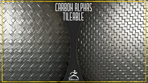 11 Carbone Tileable Alphas (ZBrush, Substance, 4K)