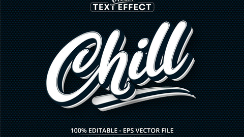 Chill text, minimalistic style editable text effect