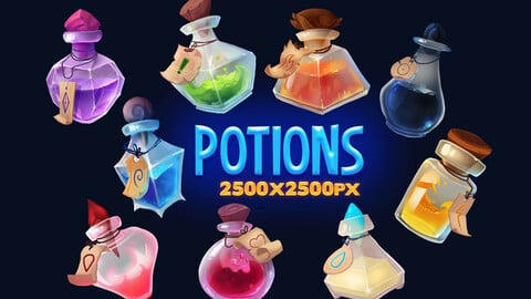 Fantasy Potion Game Items