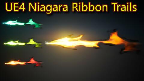 Ribbon Trails in UE4.26 Niagara