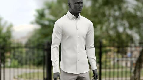 Realistic 3D model of Men's Shirt 4