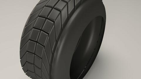 Car tire 3D model Low-poly 3D model