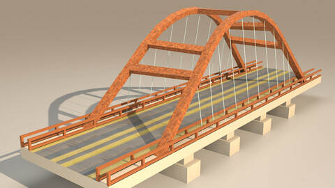 bridge Low-poly 3D model