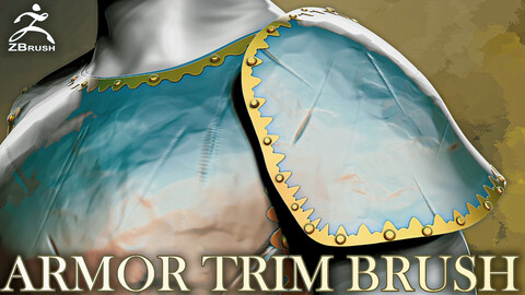 Armor Trim Brush for ZBrush
