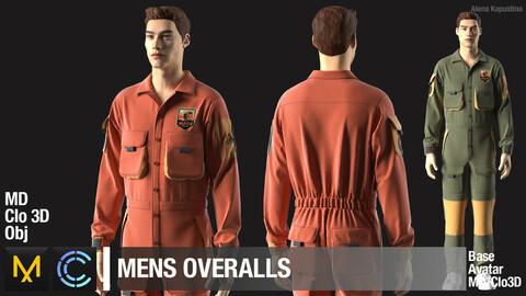 Men's overalls / Marvelous Designer / Clo 3D project + obj