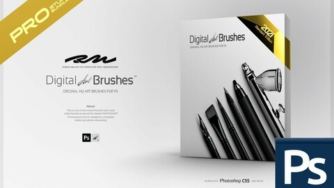 RM ★ Digital ART Brushes ™ 2021 PRO (for Photoshop)