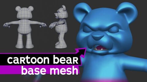 Cartoon Bear Base Mesh