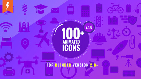 100+ Animated Icons for Blender   Motion Graphics