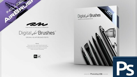 RM ★ Digital ART Brushes ™ EE (Extended Edition) 2021 PRO (for Photoshop)