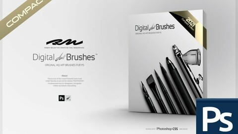 RM ★ Digital ART Brushes ™ CE (Compact Edition) 2021 PRO (for Photoshop)