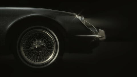 E-Type Jaguar Roadster in Fern Grey
