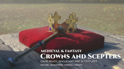 Fantasy and Medieval Crowns and Sceptres
