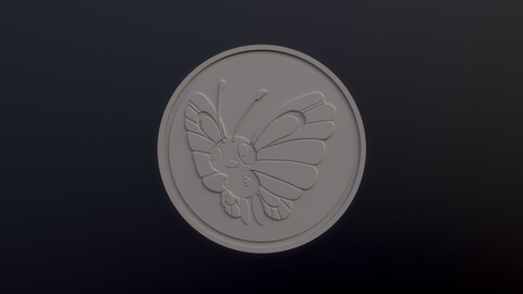 Butterfree 3D printable model - Pokémon collectibles