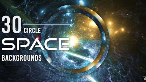 30 Abstract Circle Space Backgrounds - Vol. 2