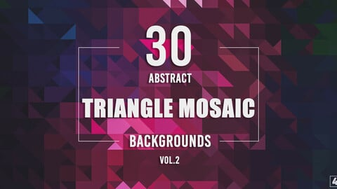 30 Abstract Triangle Mosaic Backgrounds - Vol. 2