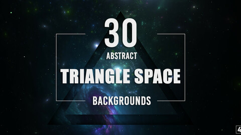 30 Abstract Triangle Space Backgrounds